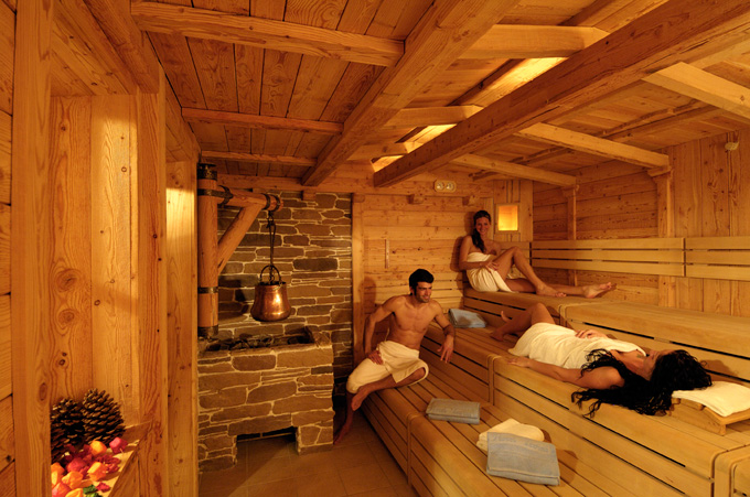sauna spa lusso